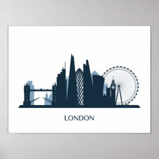 Poster Horizon de ville de Londres