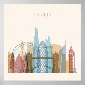 Poster Horizon de ville de Londres, Angleterre |