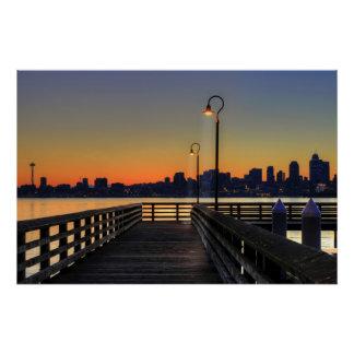 Poster Horizon du centre de Seattle Washington