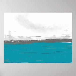 "Poster horizontal Grand Modèle ""Green Ocean"" Posters"