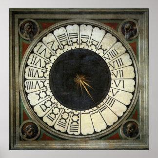 Poster Horloge dans le Duomo par Paolo Uccello