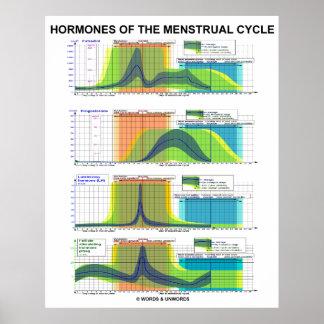 Poster Hormones de la menstruation de cycle menstruel