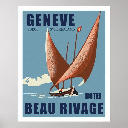 Poster Hotel Beau Rivage (Geneva - Switzerland)