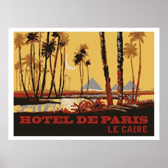 Poster Hotel de Paris (Le Caire)
