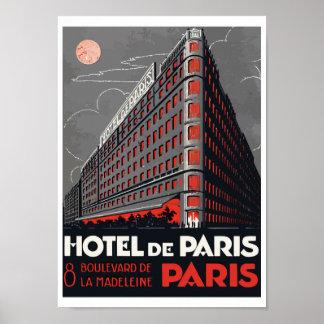 Poster Hotel de Paris (Paris)