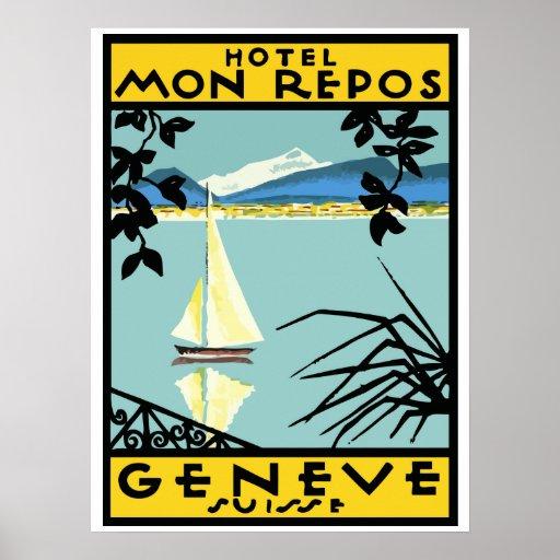 Poster Hotel Mon Repos (Geneva - Switzerland)