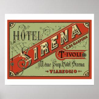Poster Hotel Sirena (Tivoli - Italy)
