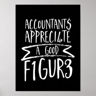 Poster Humour drôle de bureau de comptable de finances