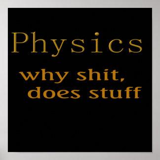 Poster Humour drôle de physique de T-shirts