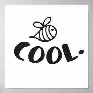 Poster Humour frais de positivité d'abeille