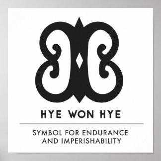 Poster Hye a gagné le symbole de Hye | pour