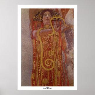 Poster Hygeia par Gustav Klimt