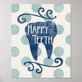 Poster Hygiéniste dentaire de dentiste d'art d'affiche