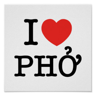 Poster I coeur (amour) Pho