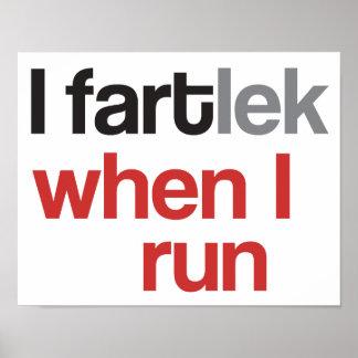 Poster I FARTlek quand je cours le © - FARTlek drôle