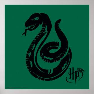 Poster Icône de serpent de Harry Potter   Slytherin