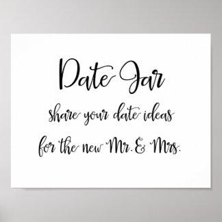Poster Idées de pot de date épousant le signe