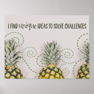 Poster Idées uniques de résoudre des défis