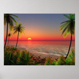 Poster Île de paradis