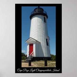 Poster Île légère de Chappaquiddick de phare de Poge de