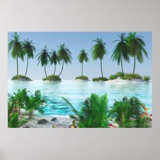 Poster Île tropicale de paradis