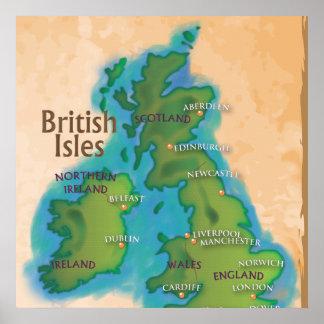 Poster Îles britanniques