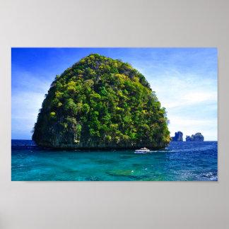 Poster Îles tropicales de flottement