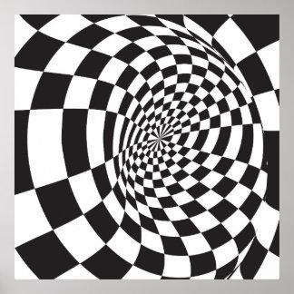 Poster Illusion optique