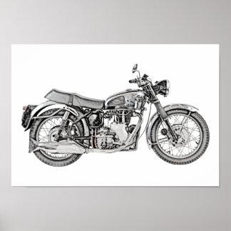 Poster Illustration 1952 de moto de venin de Velocette