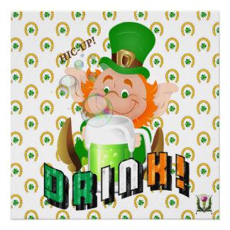 Poster Illustration 53086A2 du jour de St Patrick de FD