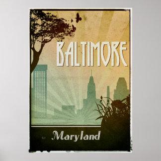 Poster Illustration d'affiche de ville de conception