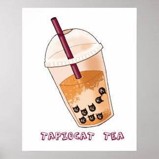 Poster Illustration de calembour de thé de Tapiocat