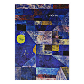 Poster Illustration de Paul Klee, clair de lune