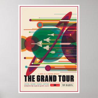 Poster Illustration d'exploration d'espace de visite
