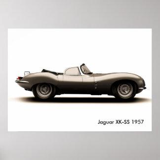 Poster Image classique de voiture pour l'affiche