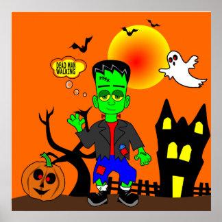 Poster Image du monstre de Frankenstein drôle