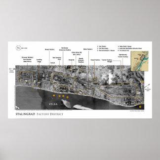 Poster Images de la bataille de Stalingrad dans la