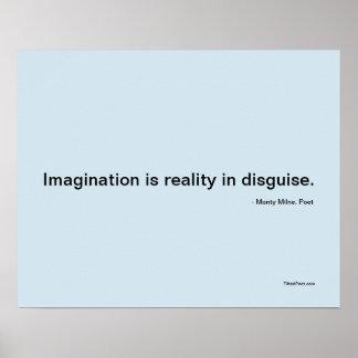 Poster Imagination - affiche de poésie