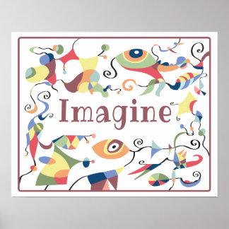 Poster Imaginez l'affiche abstraite de décor pour la