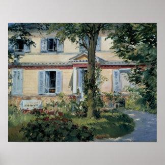 Poster Impressionisme vintage, Chambre chez Rueil par