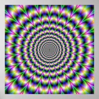 Poster Impulsion psychédélique en affiche pourpre et vert