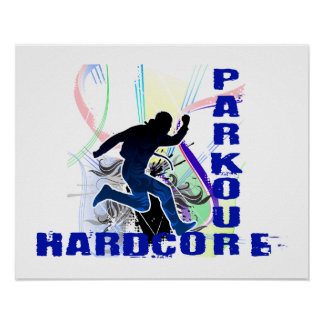 Poster Inconditionnel courant libre de Parkour
