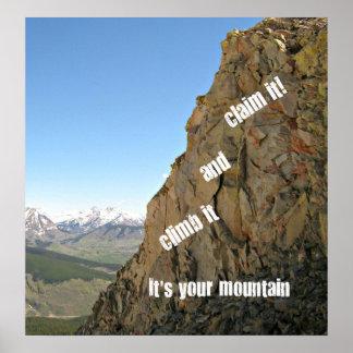 Poster Inspiration pour le courage