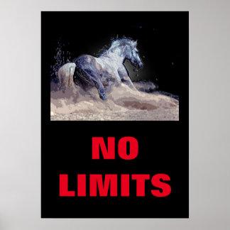 Poster Inspiré aucun cheval de limites de motivation
