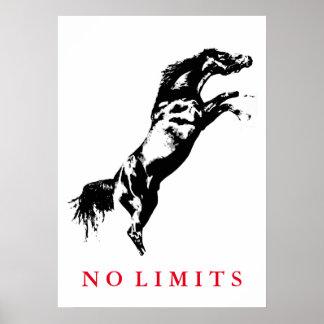 Poster Inspiré aucune illustration de cheval blanc de