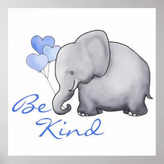 Poster Inspiré mignon soit crèche aimable d'éléphant