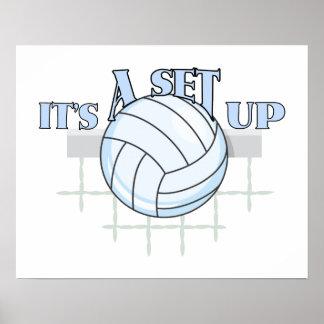 Poster Installation de volleyball