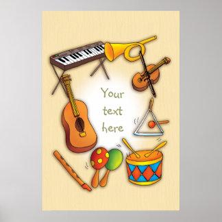 Poster Instruments de musique frais