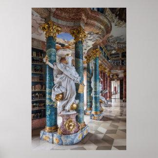 Poster Intérieur de bibliothèque de Rococo-Style