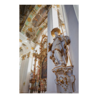 Poster Intérieur rococo bavarois d'église
